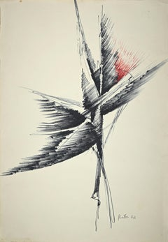 PRICE - Abstract Composition - Original Pencil and Pen - 1974