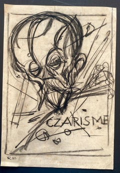Czarisme - China Ink and Watercolor by Gabriele Galantara - 1910s