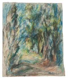 The Forest- Original Drawing by Ch. Jamiris Rodriguez - Mid-20th Century