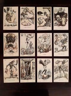La Danza Macabra Europea - Original Illustration Alberto Martini - 1915