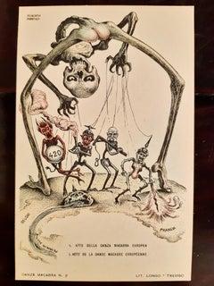 La Danza Macabra - Rare Book Illustrated by Alberto Martini - 1915