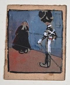 The Priest and the Cuirassier - Artwork by Gabriele Galantara - 1905