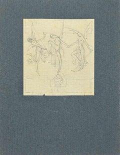 The Dance - Original Pencil Drawing - 1920s