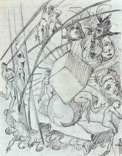 Dancers - Original Pencil Drawing - 1920