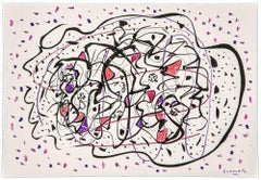 Abstract Composition - Original Drawing by Maurizio Gracceva - 2010