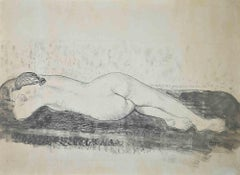Nude of Woman - Original China Ink and watercolour by C.E. Pinson - 1935