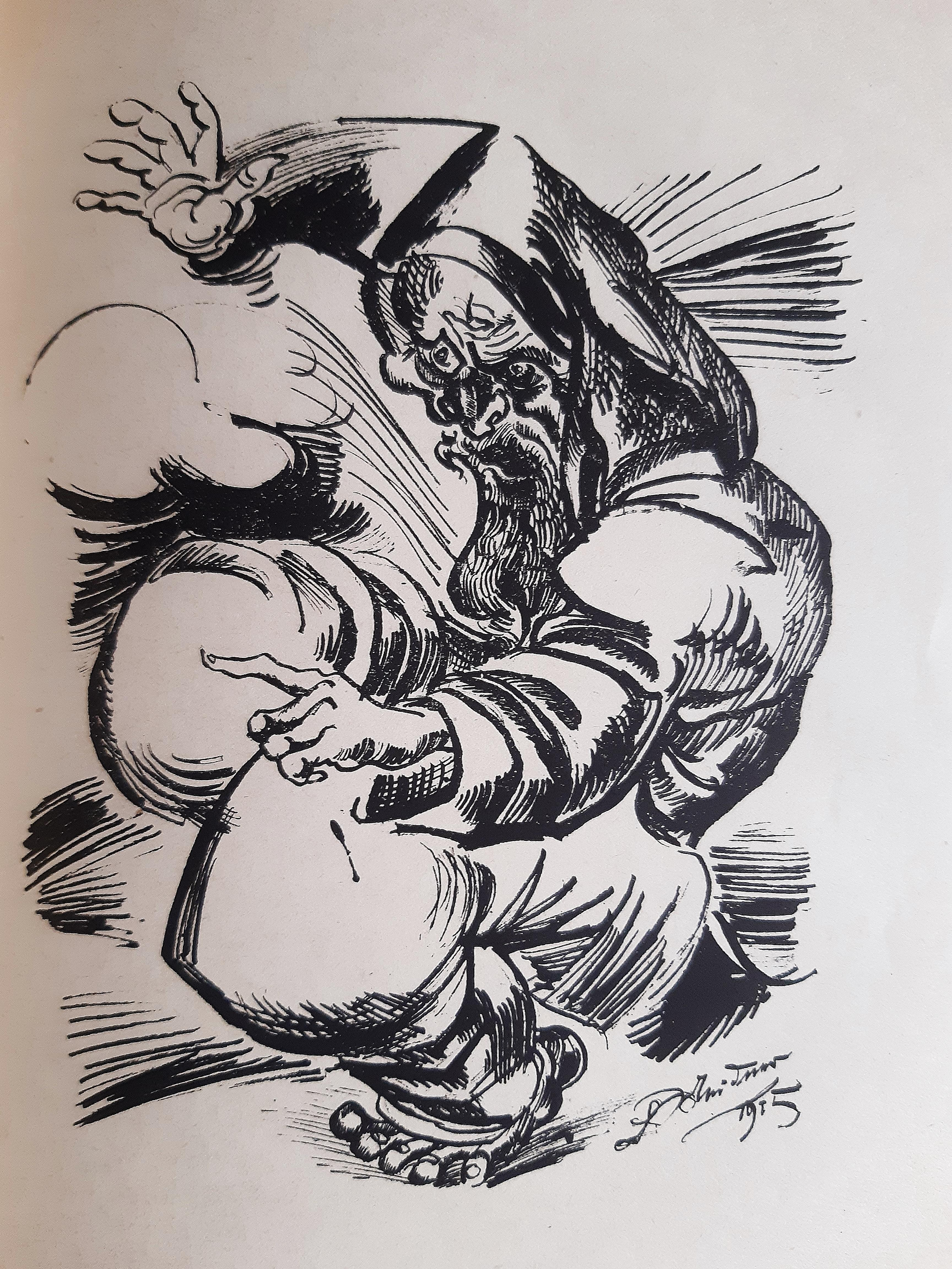 Im Nachen das Sternemeer - Rare book Illustrated by Ludwig Meidner - 1918