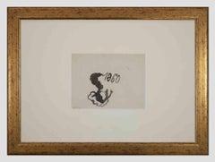 Happy 1960 - Original Watercolor on Paper by Mino Maccari - 1960s