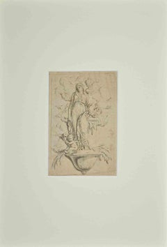 Study for a Frieze - Original Pen Drawing - 18th Century
