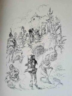 Die Tapferen Zehntausend - Original Rare Book Illustrated by Max Slevogt - 1923
