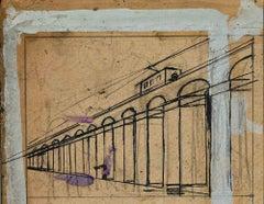 Tram - Artwork by Gabriele Galantara - 1905