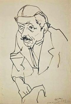 Portrait - Original pen drawing by Umberto Maria Casotti - 1947