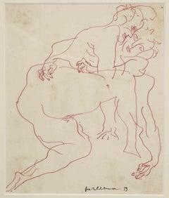 Lovers - Original Drawing by Sergio Barletta - 1959