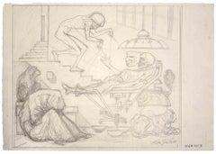 Agony - Original Drawing by Leo Guida - 1977