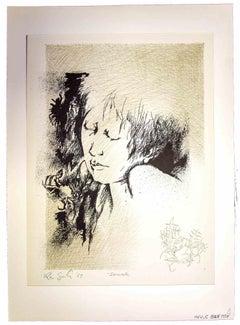Portrait - Original Print by Leo Guida - 1965