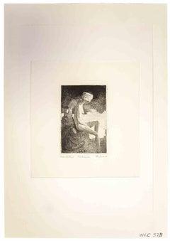 Nude - Original Print by Leo Guida - 1970