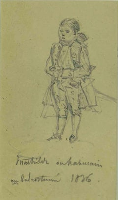 Costume Party - Original Pencil Drawing - 1836