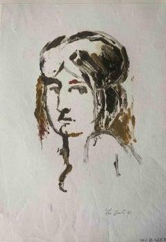 Portrait - Original MIxed Media by Leo Guida - 1961