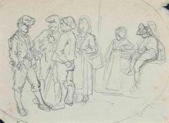 Figures - Original Pen Drawing  - Early 20 Century