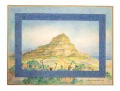 Landscape - Original Tempera by Leo Guida - 1980