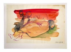 Nude - Original Drawing by Leo Guida - 1980s