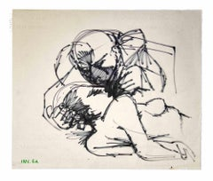 The Kiss - Original Drawings by Leo Guida - 1970s