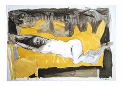 Female Figure - Original Drawing by Leo Guida - 1970s