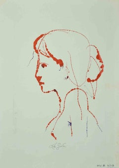 Portrait - Original Drawing by Leo Guida - 1970