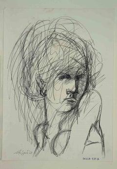 Portrait - Original Drawing by Leo Guida - 1965