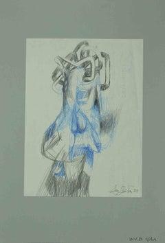 Sketch - Original Drawing by Leo Guida - 1984