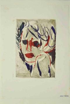Portrait - Original Drawing by Leo Guida - 1970s