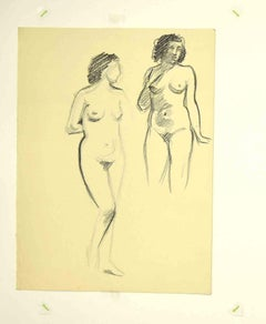 Nudes - Original Drawing by Leo Guida - 1980s