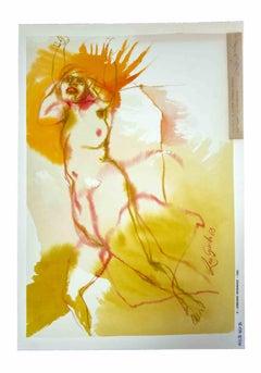 Nude - Original Drawing by Leo Guida - 1963