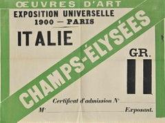 Admission to the Universal Exhibition in Paris - Original Document - 1900