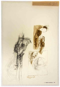 Sketch - Original Drawing by Leo Guida - 1963