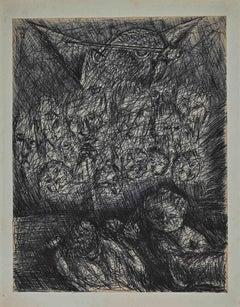 Lucifer Mephistopheles- Drawing by Maurice Walter Edmond de Lambert - 1900s