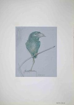 Bird - Original Drawing by Leo Guida - 1970