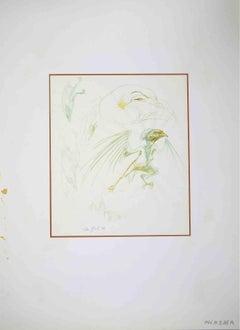 Monster Bird - Original Drawing by Leo Guida - 1970