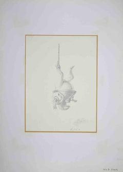 Knight - Original Drawing by Leo Guida - 1970