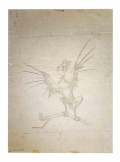 The Bird - Original Drawing by Leo Guida - 1970s
