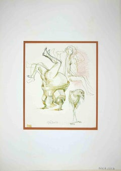 The Hobby - Original Drawing by Leo Guida - 1972