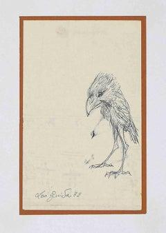 Bird - Original Drawing by Leo Guida - 1972