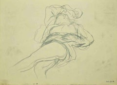Nude - Original Drawing by Leo Guida - 1970s