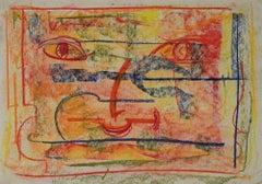 Tribute to Francis Poggi - Original Drawing by Perrine Gretener - 1970