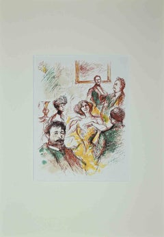 Divertissement - Original Drawing - Early 20th Century