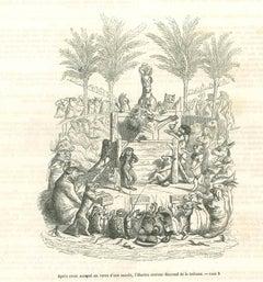 The Tribune - Original Lithograph by J.J Grandville - 1852