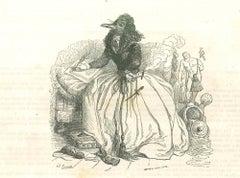 Duchess - Original Lithograph by J.J Grandville - 1852