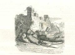 The Break - Original Lithograph by J.J Grandville - 1852