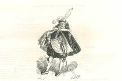 The Observer - Original Lithograph by J.J Grandville - 1852