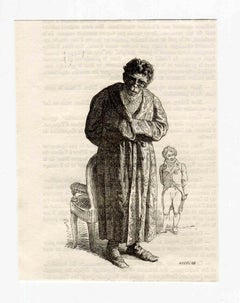 Humility - Original Lithograph by J.J Grandville - 1852
